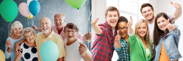idősek és fiatalok
